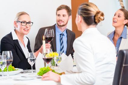Business-Knigge: Geschäftsessen